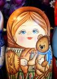 Russian toy. Matrioska. Royalty Free Stock Photos