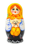 Russian toy matrioska. On white background Royalty Free Stock Photography