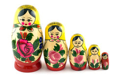 Russian Toys In Line Stock Images