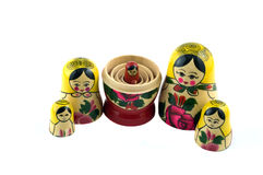 Russian Toys In Line Royalty Free Stock Image
