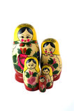 Russian Toys in line Royalty Free Stock Photos