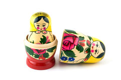 Russian Toys in line Royalty Free Stock Photography