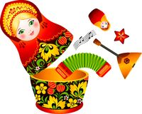 Russian tradition matryoshka doll Royalty Free Stock Image