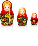 Russian tradition matryoshka dolls Stock Photos