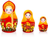Russian tradition matryoshka dolls royalty free illustration