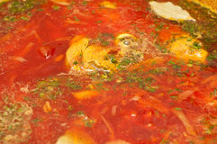 Russian traditional borscht Royalty Free Stock Images