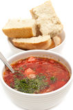 Russian traditional borscht Stock Image