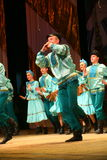 Russian traditional dance festivals of the factory outskirts - merry quadrille Royalty Free Stock Photos