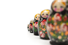 Russian traditional doll matreshka Stock Images