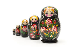 Russian traditional doll matreshka. Concept superiority and leadership Stock Photo