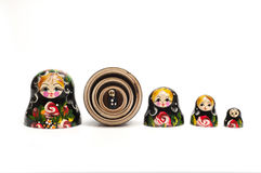 Russian traditional doll matreshka. Matrioshka. Concept safety and tutelage royalty free stock photography