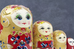 Russian Traditional Dolls Matrioshka - Matryoshka or Babushka Royalty Free Stock Photo