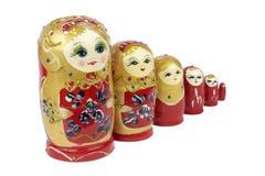 Russian Traditional Dolls Matrioshka - Matryoshka or Babushka Royalty Free Stock Photo