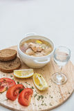 Russian traditional fish soup Stock Photography