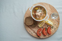 Russian traditional fish soup Royalty Free Stock Photography