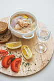 Russian traditional fish soup Stock Images