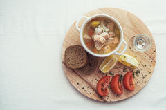 Russian traditional fish soup Royalty Free Stock Photo