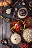 Russian traditional food on Shrovetide holidays Royalty Free Stock Photography
