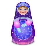 Russian traditional matryoshka folk doll Royalty Free Stock Photos
