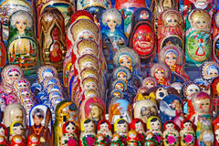 Russian traditional nesting wooden dolls Royalty Free Stock Image