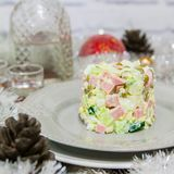 Christmas winter salad. Royalty Free Stock Photos
