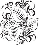 Russian traditional ornament Hohloma. Russian traditional ornament. A decorative beautiful ornament. Leaves and a grass Stock Photo