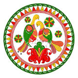 Russian traditional ornament with paradise birds a Stock Image