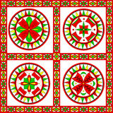 Russian traditional ornament of Severodvinsk regio Stock Photos