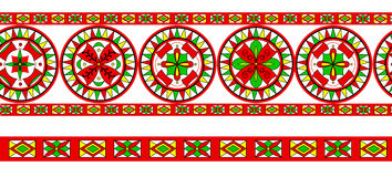 Russian traditional ornament of Severodvinsk regio Royalty Free Stock Images