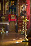 Russian traditional orthodox church interior Stock Image