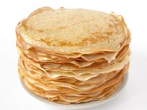 Russian traditional pancakes stock photo