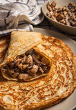 Russian traditional pancakes Royalty Free Stock Images