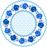 Russian traditional plate in gzhel style Royalty Free Stock Photography