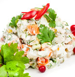 Russian traditional salad Royalty Free Stock Photos