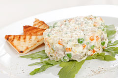 Russian traditional salad Stock Image