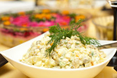 Russian traditional salad olivier Stock Image