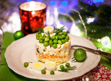Russian traditional salad Olivier royalty free stock image