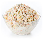 Russian traditional salad olivier Royalty Free Stock Photo