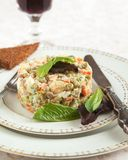 Russian traditional salad Olivier Royalty Free Stock Photography