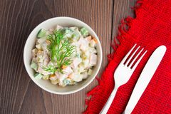 Russian traditional salad Stock Photography