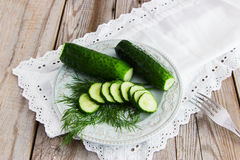 Russian traditional salted cucumber. Russian traditional appetizing - mild salted cucumber Stock Image