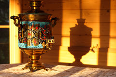 Russian traditional samovar Stock Images