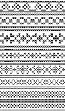Russian traditional seamless patterns. The cross-stitch.  Royalty Free Stock Image
