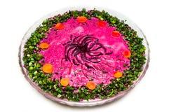 Russian traditional ''shuba'' salad Royalty Free Stock Images
