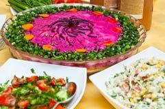 Russian traditional ''shuba'' salad Stock Image