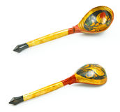 Russian traditional spoon Stock Images