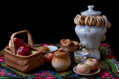 Russian traditional tea ceremony Stock Image