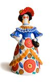 Russian traditional toy lady Royalty Free Stock Photos