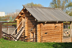 Russian traditional wooden house  Royalty Free Stock Photo