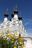 Russian traditonal medieval monastery Stock Images